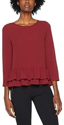 Only Women's Onlvic 7/8 Solid Frill Top WVN Blouse