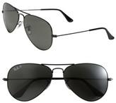 Ray-Ban Men's 'Polarized Original Aviator' 58Mm Sunglasses - Black/ Green P