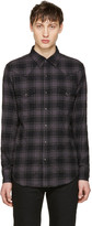 Saint Laurent Black Flannel Check Shirt