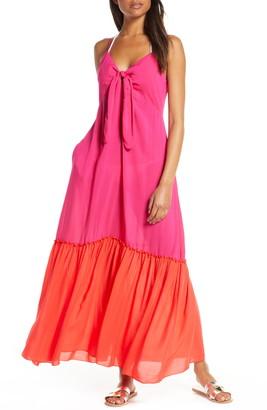 Elan International Colorblock Cover-Up Maxi Dress