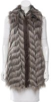 Rachel Zoe Faux Fur Zip-Up Vest