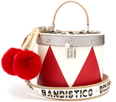 Dolce & Gabbana Drum fur-trimmed leather shoulder bag