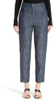 Tibi Women's High Waist Crop Denim Pants