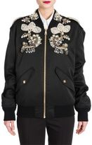 Dolce & Gabbana Jewel-Embellished Satin Bomber Jacket
