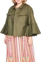 Rachel Roy Ruffle Sleeve Utility Jacket