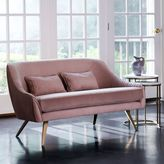"west elm Roar + RabbitTM Glamour Velvet Sofa (60"")"