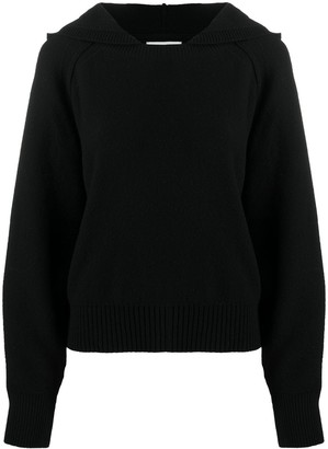 BA&SH Hooded Wool-Knit Jumper