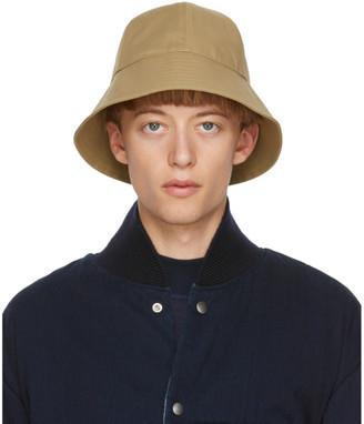 Jil Sander Beige Bonded Hat