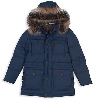 Barbour Little Boy's Boy's Morton Faux Fur Parka