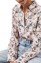Topshop Women's Cherry Blossom Shirt