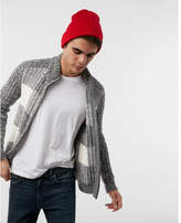 Express check zip front cardigan