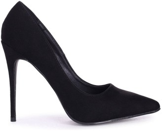 Linzi ASTON - Black Suede Classic Pointed Court Heel