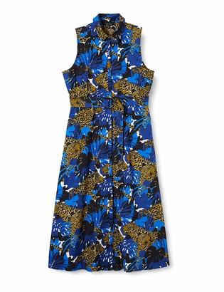 Karen Millen Women's Leopard and Palm Print Dress