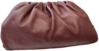 Bottega Veneta Pouch Burgundy Leather Clutch bags
