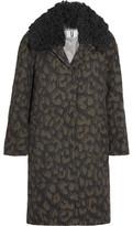 Topshop Sidgwick Shearling-Trimmed Cloqué Coat