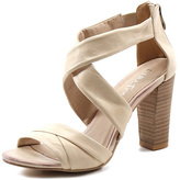 Diba Nude Exit Left Leather Sandal