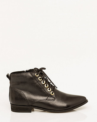 Le Château Leather Lace-Up Ankle Boot