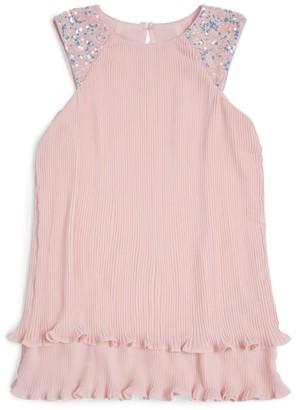 Billieblush Pintuck Ruffle Dress