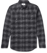 Saint Laurent - Slim-fit Checked Stretch-cotton Flannel Western Shirt