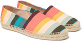 Paul Smith Sunny Striped Canvas Espadrilles - Pink