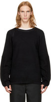Helmut Lang Black Combo Crewneck Sweater