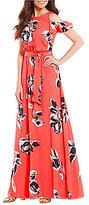 Vince Camuto Cold Shoulder Floral Maxi Dress
