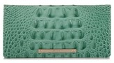 Brahmin Women's 'Ady' Croc Embossed Continental Wallet - Green
