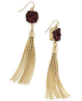 INC International Concepts Druzy Crystal Tassel Earrings, Only at Macy's