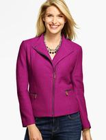 Talbots Boiled Wool Moto Jacket
