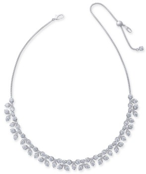 "Eliot Danori Silver-Tone Crystal 18"" Collar Necklace, Created for Macy's"