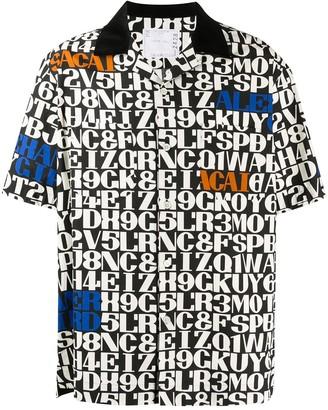 Sacai Script Print Shirt