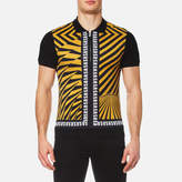 Versus Versace All Over Printed Polo Shirt Yellow/black