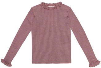 Bonpoint Ribbed metallic wool-blend sweater