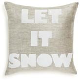"""Alexandra Ferguson Let It Snow Decorative Pillow, 16"""" x 16"""""""