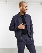 Asos Design DESIGN two-piece harrington jacket in navy check