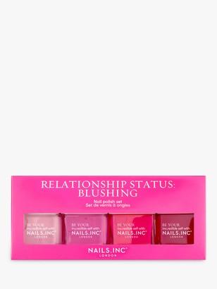 Nails Inc Relationship Status: Blushing Nail Polish Set, 4 x 14ml