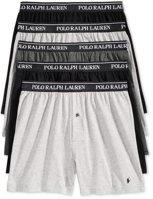 Polo Ralph Lauren Men 5-Pk. Classic Knit Boxer Briefs