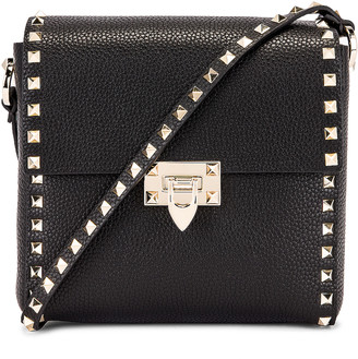 Valentino Rockstud Shoulder Bag in Black | FWRD
