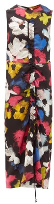 colville Floral-print Satin Maxi-dress - Multi