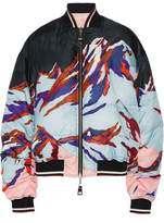 Emilio Pucci Reversible Printed Faille And Shell Down Bomber Jacket