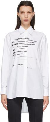 MM6 MAISON MARGIELA White Motocross Logo Shirt