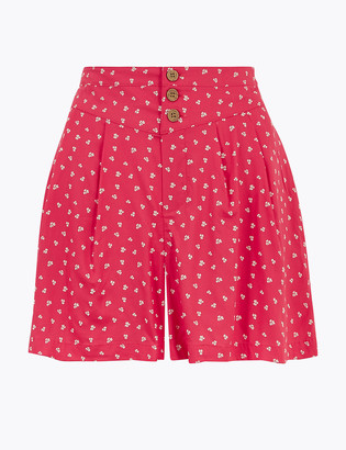 Marks and Spencer Floral High Waisted Shorts