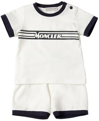Moncler Logo Print Cotton Jersey T-shirt & Short