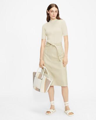 Ted Baker SUSANNA Pleather Mockable Midi Dress