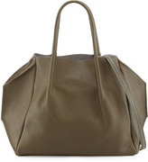 Oliveve Zoe Small Leather Tote Bag, Olive