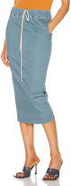 Rick Owens Soft Pillar Denim Skirt in Soft Blue | FWRD