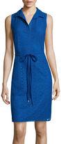 London Times London Style Collection Sleeveless Lace Shirtdress