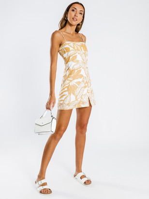 Nude Lucy Marley Dress in Yellow White