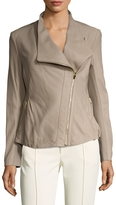 Via Spiga Women's Leather Peplum Motorcycle Jacket