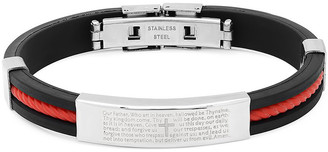 Steel Time Women's Bracelets black/metallic - Black & Red Rubber Prayer Bracelet